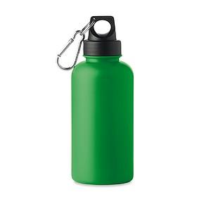Plastová láhev na pití, 500ml, na víčku je karabinka, zelená