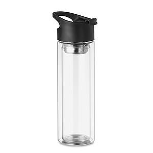 Dvojstěnná skleněná láhev, 380ml