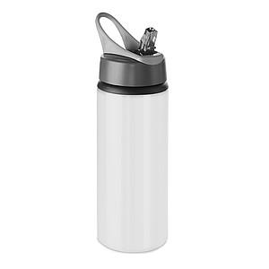 Hliníková láhev na pití, objem 600ml, bílá