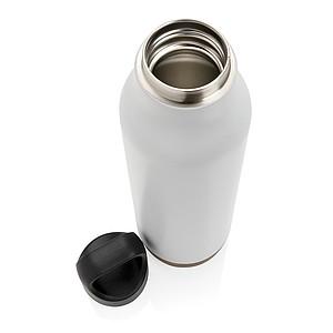 Nepropustná korková termo láhev, bílá