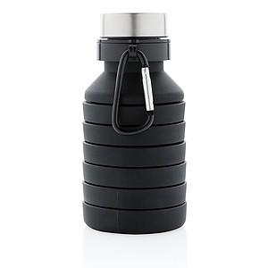 Nepropustná silikonová skládací lahev, černá