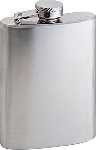 Malá butylka z nerez oceli, 104 ml, stříbrná