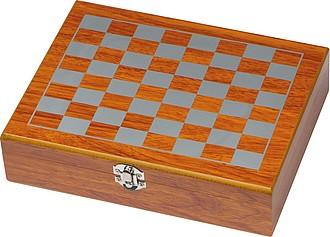 CASLA Sada likérky, hracích karet a šachů