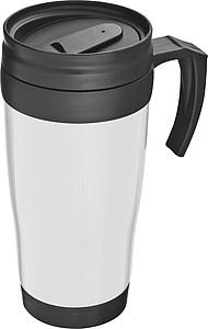 SAGRAT Plastový termohrnek, 0,4 l, bílý