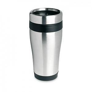 Nerezový termohrnek, objem 455 ml, černá