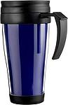 WANDER Plastový hrnek s vloženým barevným listem, modrý