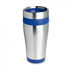 Nerezový termohrnek, objem 455 ml, modrá