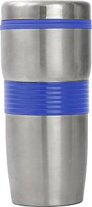 Nerezový termohrnek, 500ml, s modrým pruhem