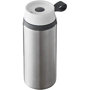 Dvouplášťový termohrnek o objemu 350 ml, stříbrná, šedá