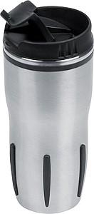 Velký termohrnek z ušlechtilé oceli 0,5 l, stříbrná