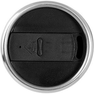 Nerezový hrnek s plastovým vnitřkem, objem 470 ml, stříbrná/černá