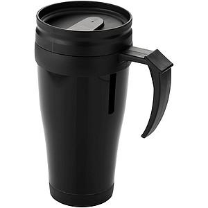 HIMALÁJ Plastový hrnek o objemu 0,35 l, černá