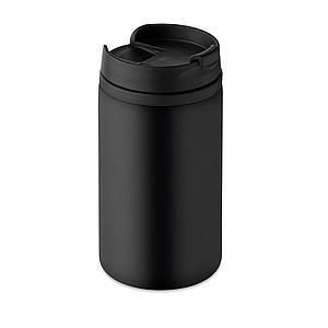 Dvoustěnný nerezový hrnek, objem 280 ml, černý
