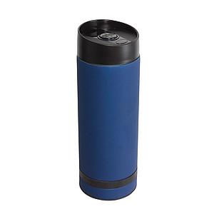 SETH Nerezový termohrnek 380ml s plastovým víčkem, tm.modrý