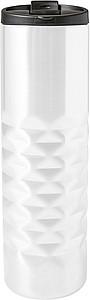 ANADOLA Nerezový termohrnek, objem 460 ml, bílý