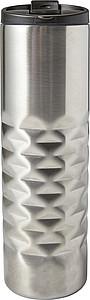Nerezový termohrnek, objem 460 ml, stříbrný