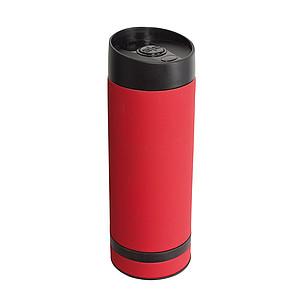 SETH Nerezový termohrnek 380ml s plastovým víčkem, červený