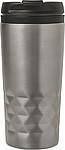 BRILON Cestovní hrnek s víčkem o obsahu 300 ml, stříbrná