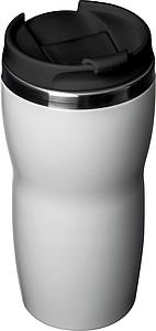 Nerezový termohrnek 400ml s víček, bílý povrch