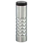 Nerezový termohrnek 475 ml s plastickým designem, stříbrný