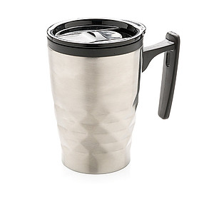 MILDA Thermohrnek 380 ml sgeometrickým vzorem, stříbrná