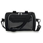 Taška na kolo s okénkem pro chytrý telefon a hlavní přihrádkou, černá
