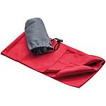 Sportovní ručník 78x38cm, červený v šedém obalu