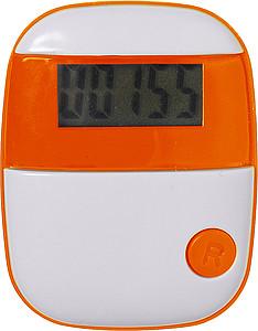 Plastový krokoměr, oranžový