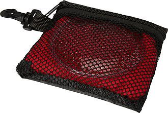 Sada sportovního ručníku (78 x 30,5cm) a chladícího polštářku v pouzdře, červená