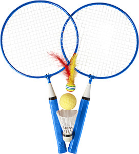 Sada na badminton, modrá