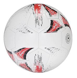 Fotbalový míč, velikost 5, bílo červený