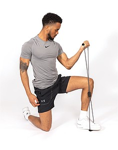 Cvičící pás ve tvaru osmy pro fitness, šedá