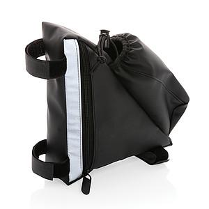 Reflexní brašna na rám kola s držákem na <lahev>, černá