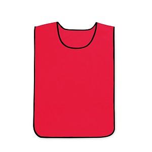 Sportovní vesta z polyesteru, elastické boční popruhy, červená