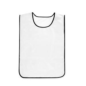 Sportovní vesta z polyesteru, elastické boční popruhy, bílá