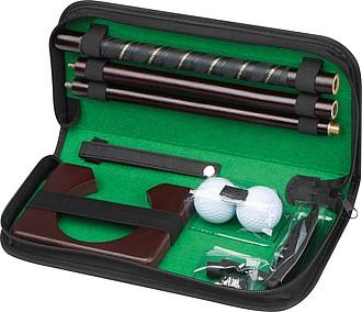 Dřevěný golf set, kompaktní souprava pro kancelářský golf