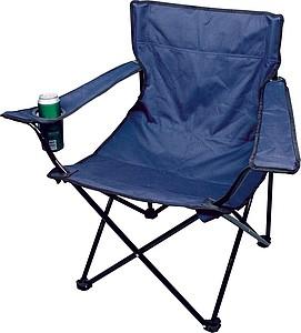 Campingová skládací židle s pouzdrem, modrá