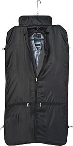 Prostorný vak na šaty s popruhem přes rameno, černá