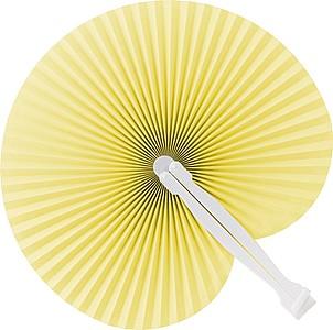 Skládací vějíř s plastovým držadlem, žlutá