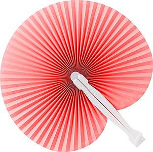 Skládací vějíř s plastovým držadlem, červený