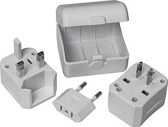 Cestovní adaptér do zásuvky, bílý