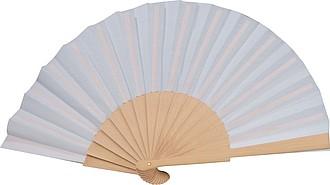 Skládací vějíř, kombinace dřeva a papíru