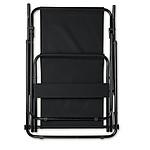 Kempingová židle ze 600D polyesteru s mosaznými rámy, černá