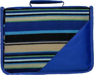 KLARISA Fleecová deka v pouzdře s uchem, 121 x 137 cm, modrá