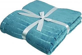 VS PONAPE modrá deka s proužky, coral fleece, 127 x 180 cm