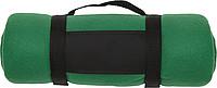 BÁRA Fleecová deka s popruhem přes rameno, zelená