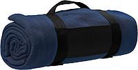 BÁRA Fleecová deka s popruhem přes rameno, modrá
