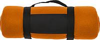 BÁRA Fleecová deka s popruhem přes rameno, oranžová