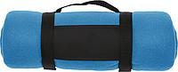 BÁRA Fleecová deka s popruhem přes rameno, sv.modrá