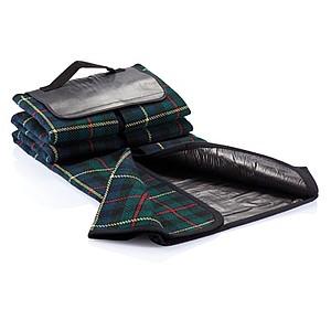 TAMPINA Pikniková deka v tradičním stylu, zelenomodrá